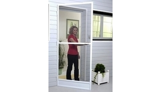 White Aluminium Frame Hinged Door Fly Screen