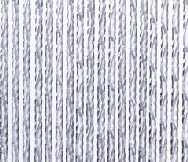 Plastic Rope Door Fly Curtain - White 90 x 210