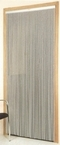 Aluminium Chain Door Fly Curtain - Plain Silver