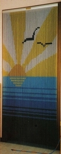 Aluminium Chain Door Fly Curtain - M9976 Sun & Sea