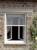 Roll Up Roll Down Window Fly Screen White 150 x 160