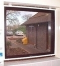 Framed Window Fly Screen White 120 x 120