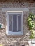 Roll Up Roll Down Window Fly Screen White 80 x 100