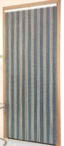 Aluminium Chain Door Fly Curtain - Striped